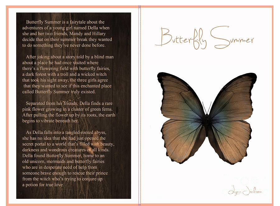 Book Digital Art - Butterfly Summer by Lynn Jackson
