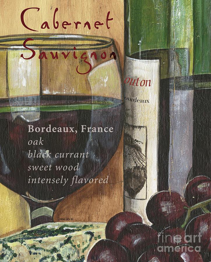 Wine Painting - Cabernet Sauvignon by Debbie DeWitt