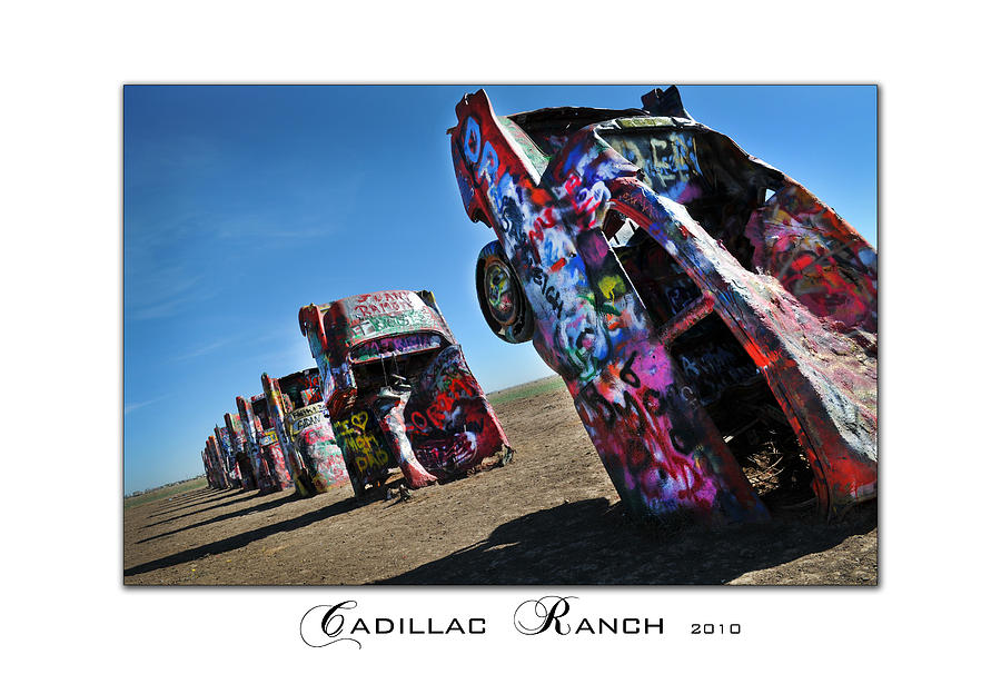 Landscape Photography Photograph - Cadillac Ranch-2010 by Anthony Manfredo