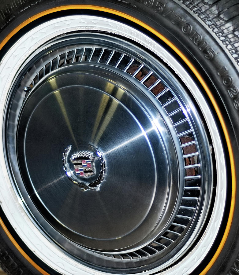 Cadillac Vogue Gold Stripe Tire Photograph By Julie Niemela