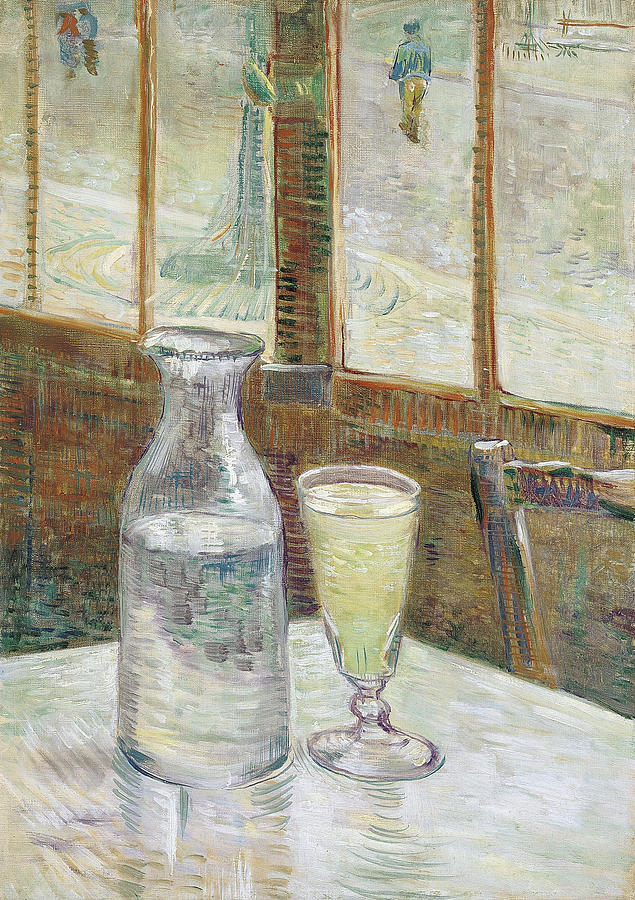 Vincent Van Gogh Painting - Cafe Table With Absinthe by Vincent van Gogh