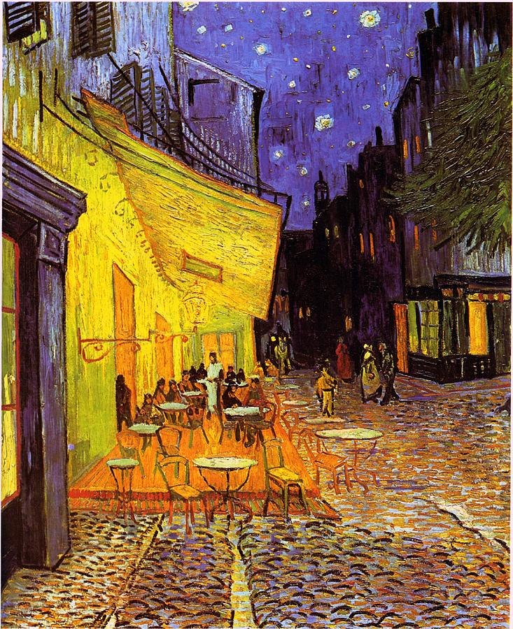 Van Gogh Painting - Cafe Terrace At Night by Van Gogh