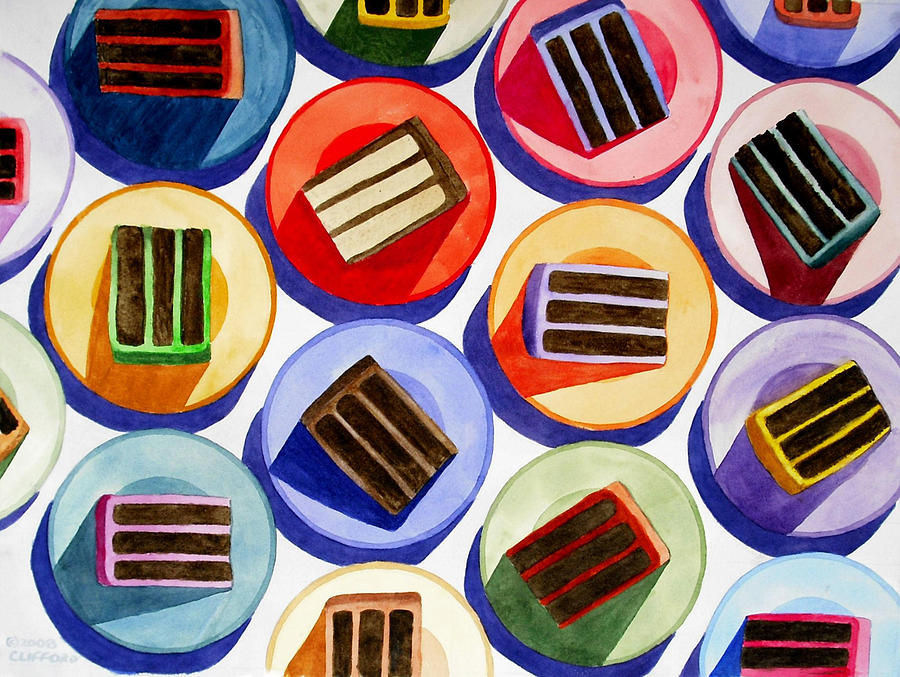 Cake Painting - Cake For Everyone by Cory Clifford