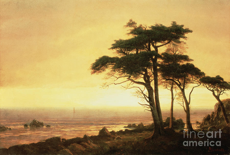 Albert Painting - California Coast by Albert Bierstadt