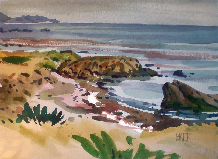 Southern California Coastal Painting - California Coast by Donald Maier