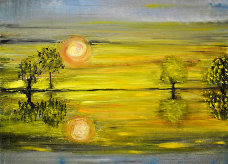 Oil Painting - Calmness by Evelina Popilian