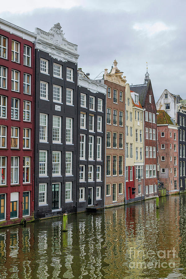 Amsterdam Photograph - Canal Houses In Amsterdam by Patricia Hofmeester