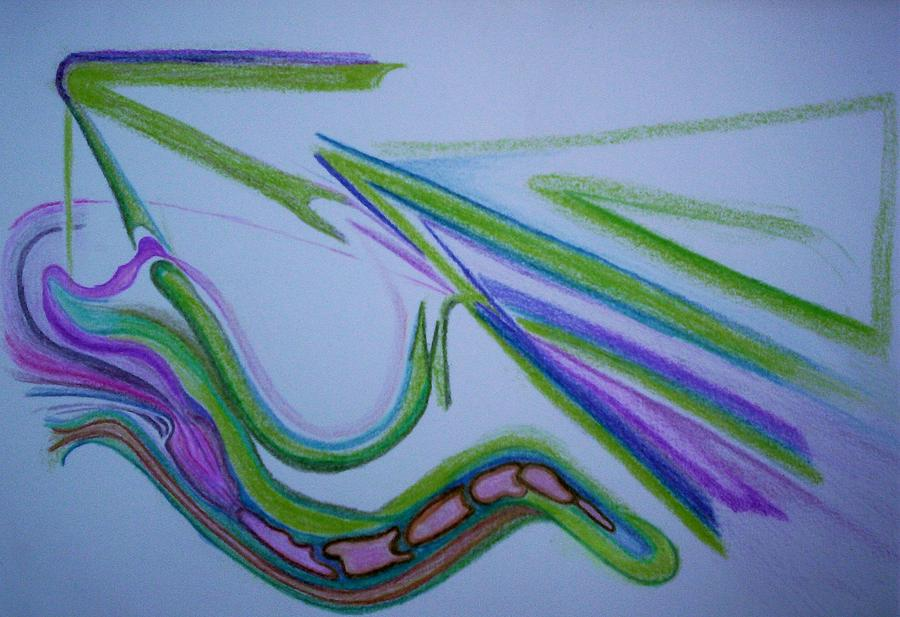 Abstract Drawing - Canal by Suzanne Udell Levinger