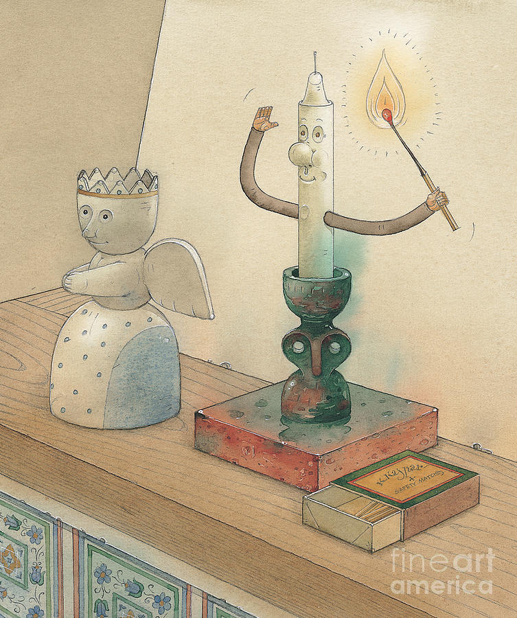 Candle Painting by Kestutis Kasparavicius