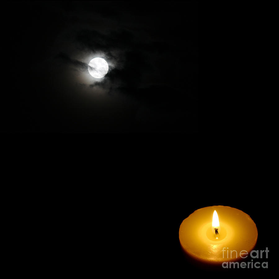 Candle Light Vs Moon Light Painting