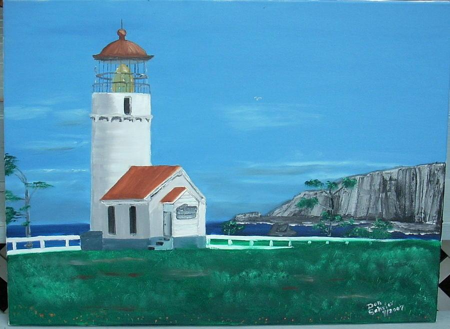 Landscape Painting - Cape Blanco Light House by Donald Schrier