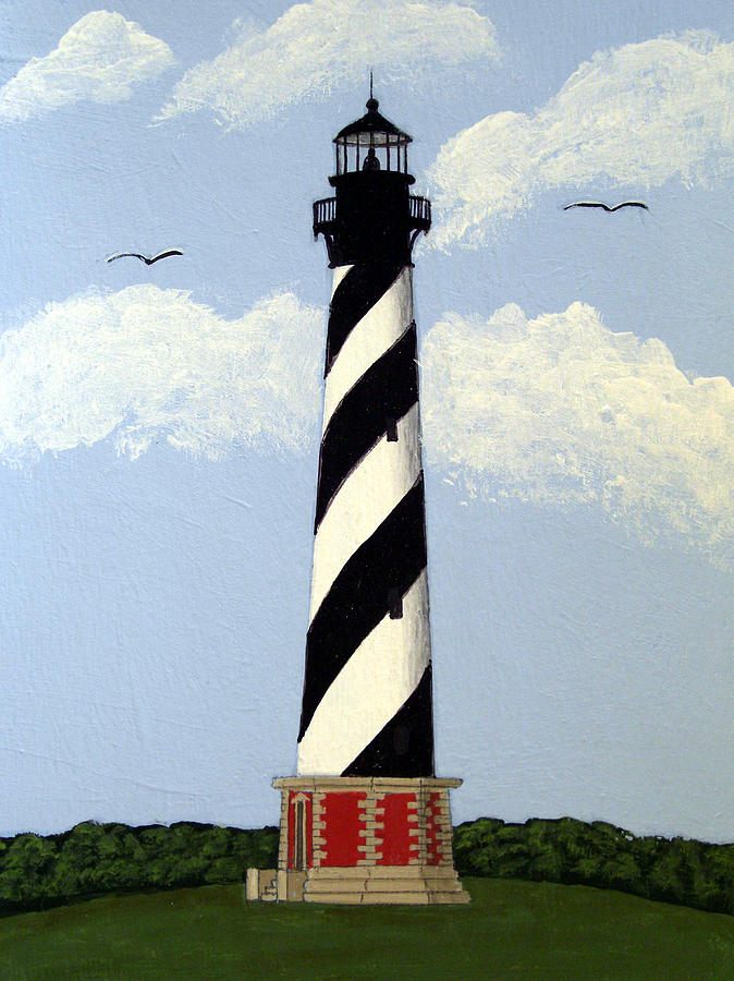 Landscape Paintings Painting - Cape Hatteras Lighthouse by Frederic Kohli