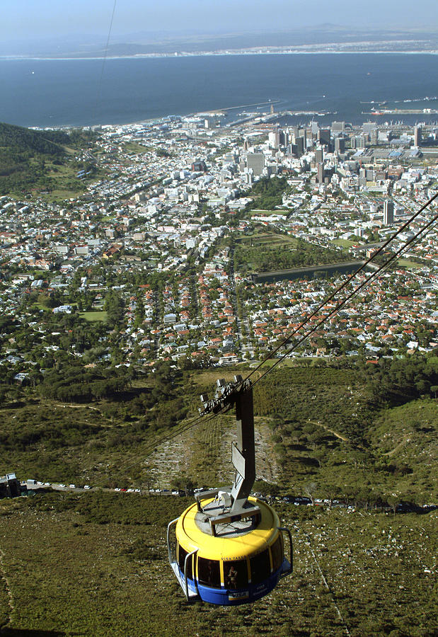 Capetown Photograph - Capetown Cablecar by Charles  Ridgway