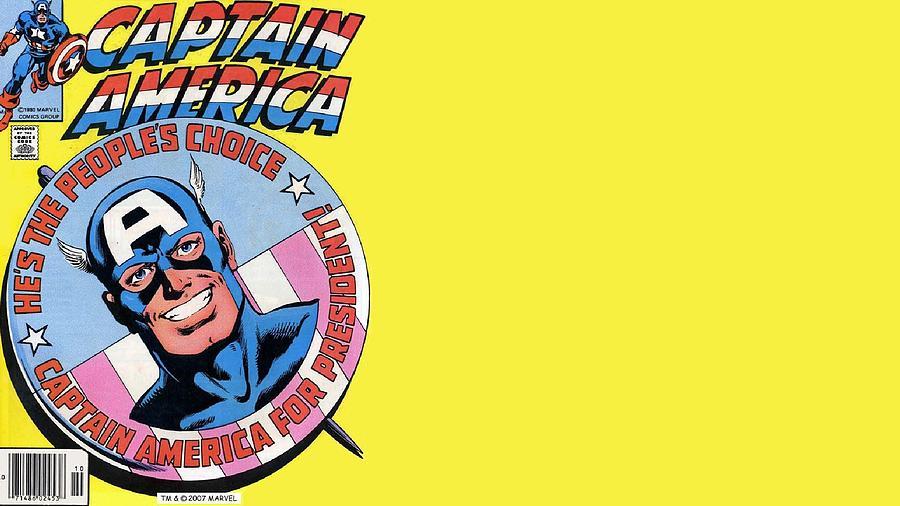 Captain America Digital Art - Captain America by Dorothy Binder