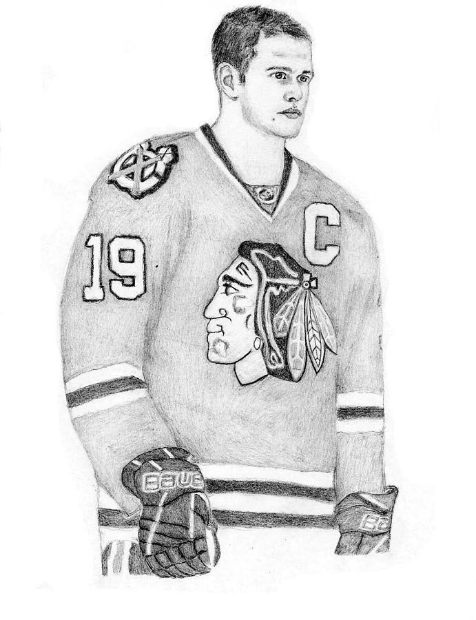 Captain Jonathan Toews Drawing By Kiyana Smith