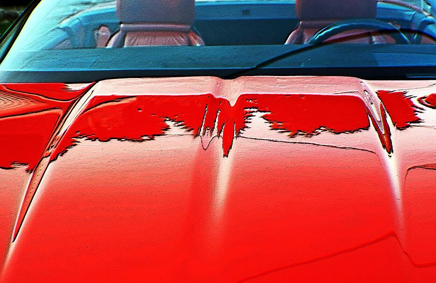Cars Digital Art - Car Hood Reflection Bump Map by Karl Rose