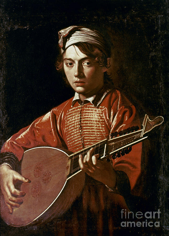 1596 Photograph - Caravaggio: Luteplayer by Granger
