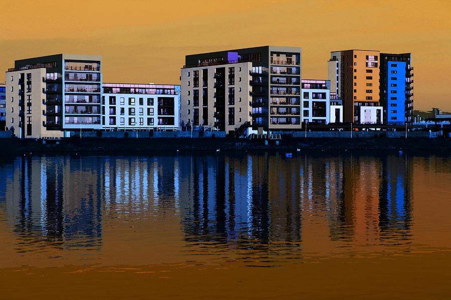 Cityscape Digital Art - Cardiff Bay by Peter Leech
