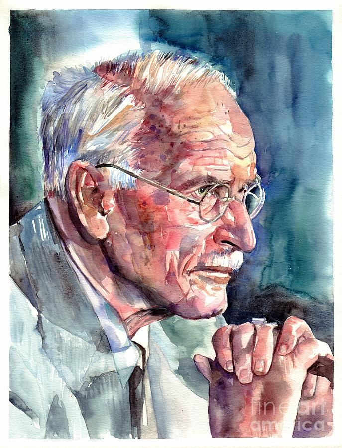 Carl Painting - Carl Gustav Jung portrait by Suzann Sines
