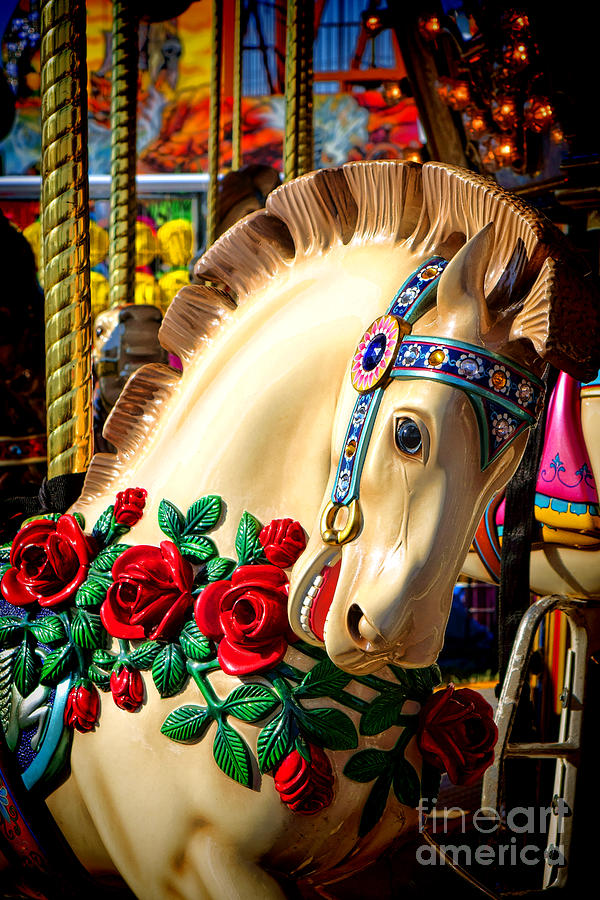 Merry Photograph - Carousel Horse  by Olivier Le Queinec