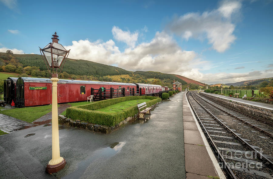 Rail Photograph - Carrog Railway Station by Adrian Evans