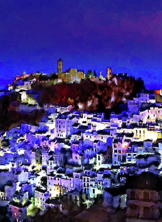 Casares Mixed Media - Casares By Night by Chris North