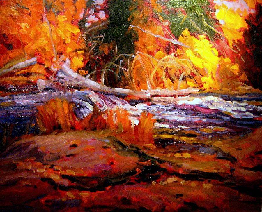 Landscape Paintings Painting - Cascade by Brian Simons