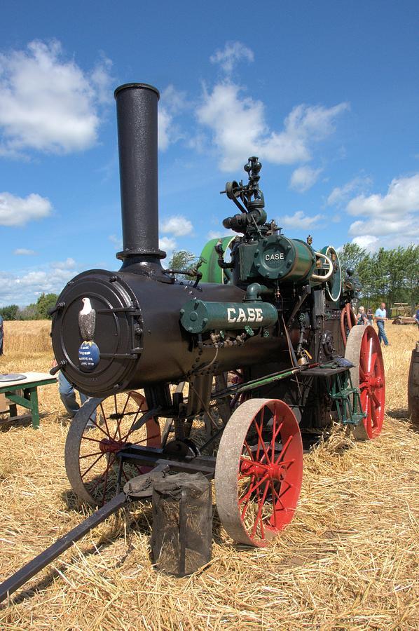 Steam Engine Photograph - Case Steam Engine by Valerie Kirkwood