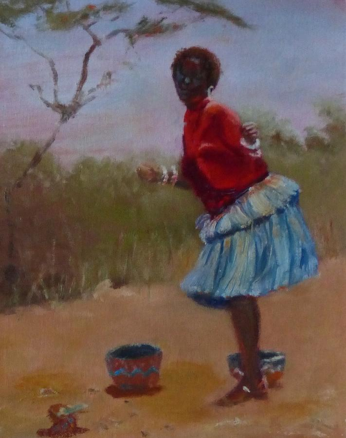 Africa Painting - Casual Dancing  by Irena Jablonski