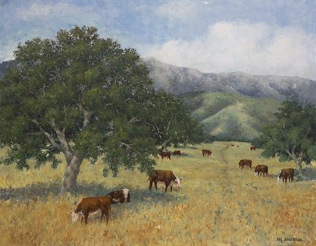 Cattle Painting - Cattle by Marv Anderson
