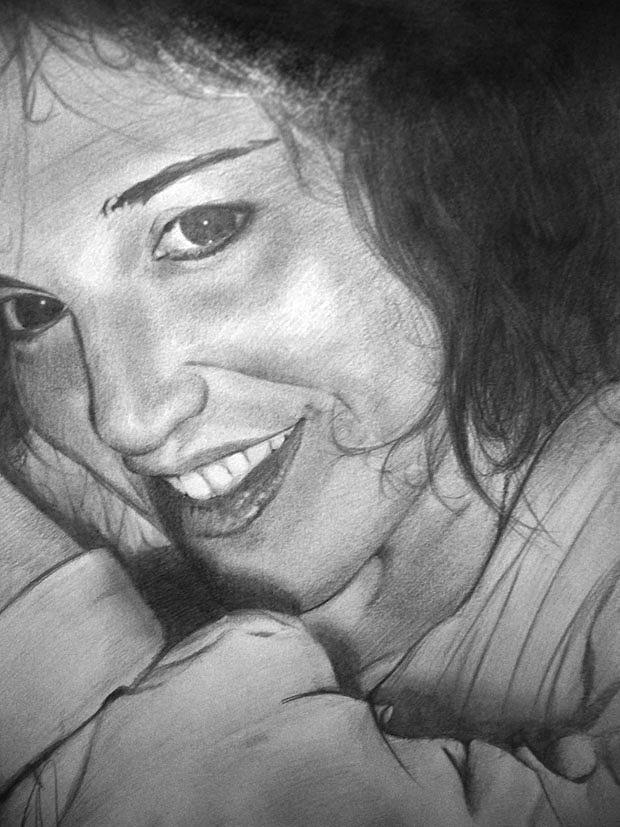 Cecilia Drawing - Cecilia Gutierrez by Fabio Turini
