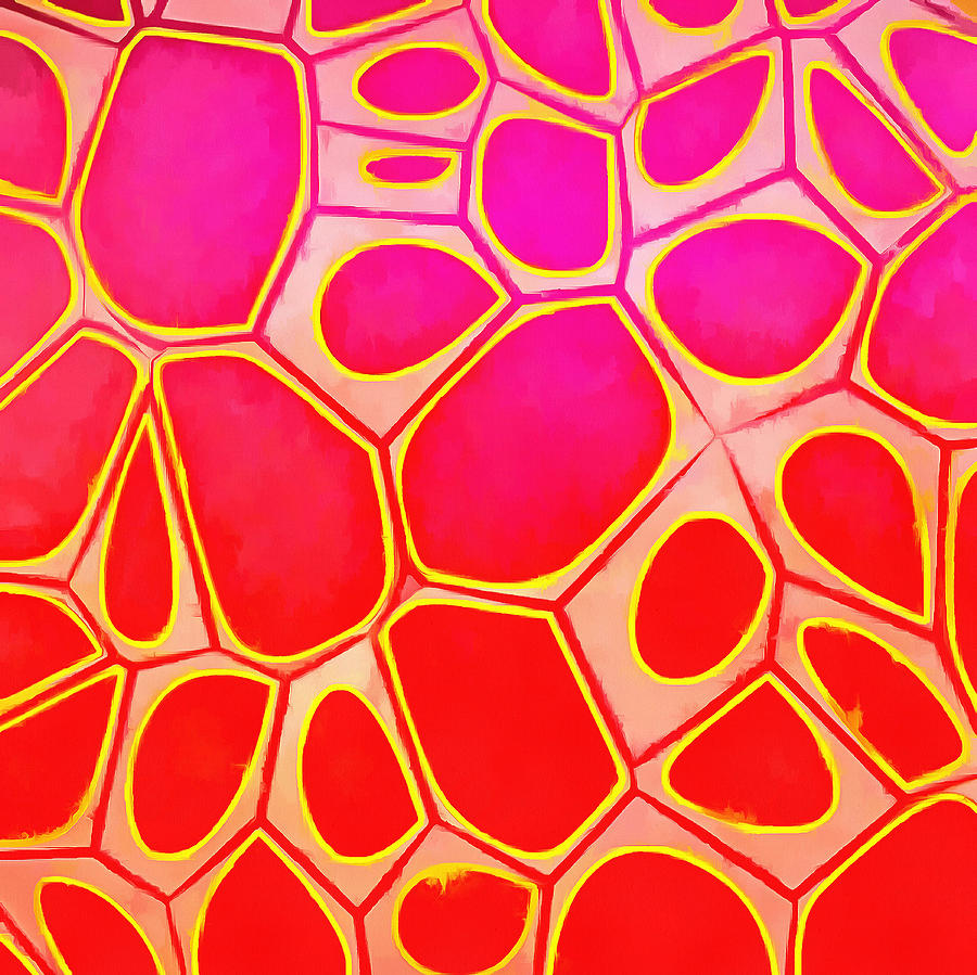Painting Painting - Cells Abstract Three by Edward Fielding