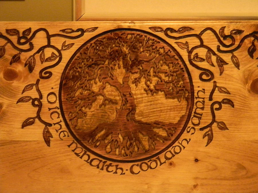 Celtic Tree Of Life Headboard Tapestry Textile By Eric Barich