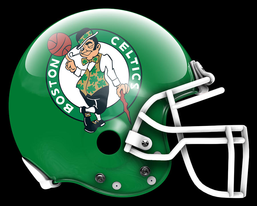 Celtica Painting - Celtics What If Its Football 1 by Joe Hamilton