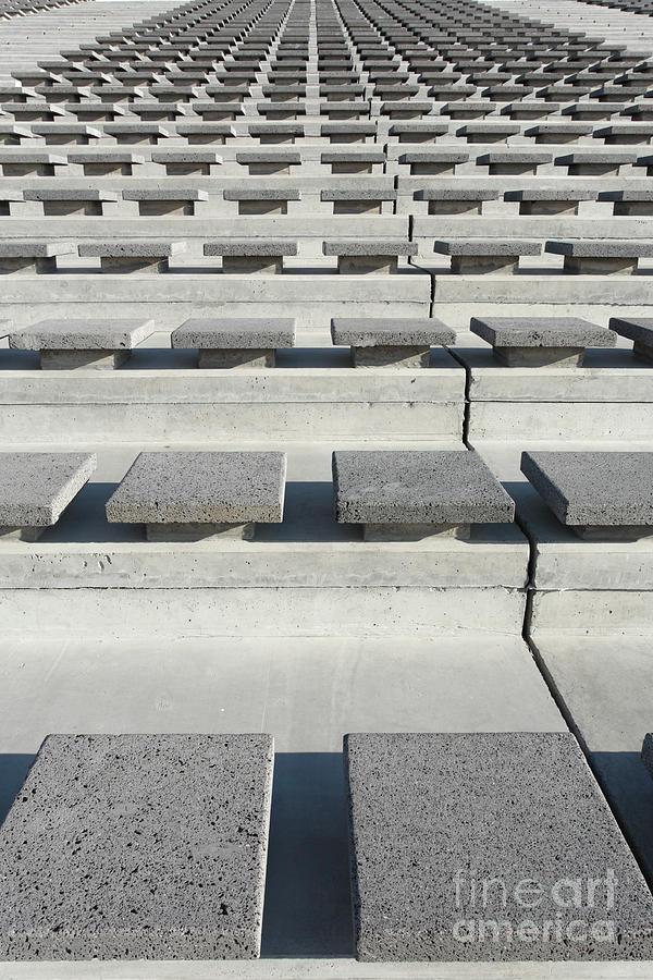 Seats Photograph - Cement Seats by Gaspar Avila