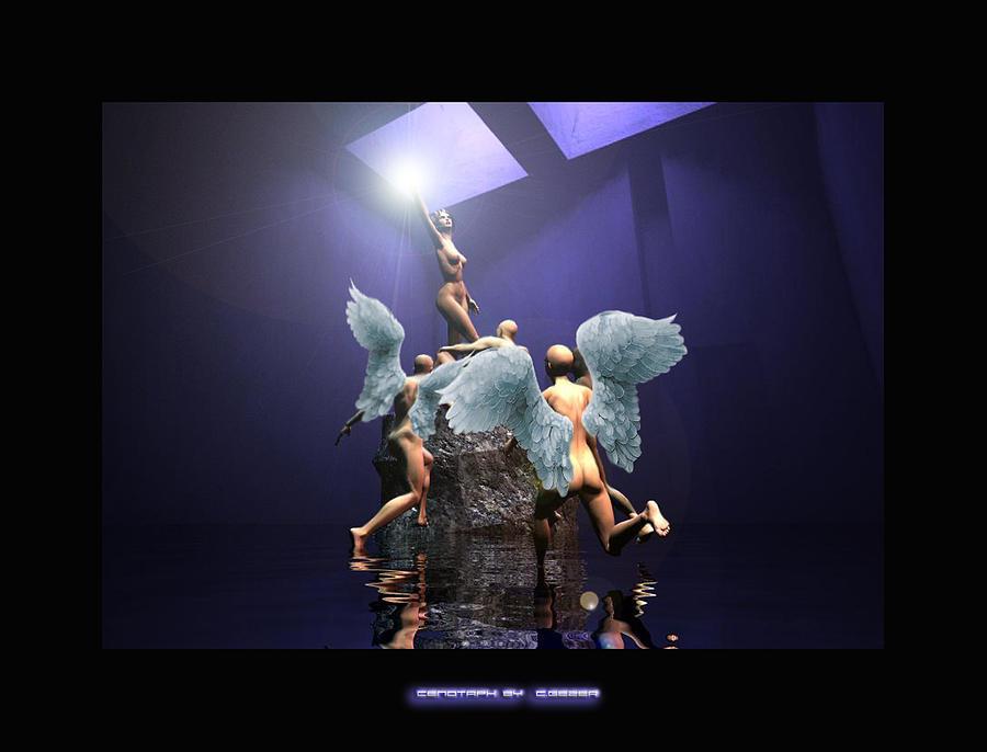 Angels Digital Art - Cenotaph by Gezer Coskun