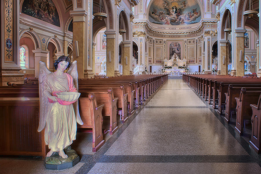 Chicago Photograph - Angel - Saint Mary Of The Angels - Chicago by Nikolyn McDonald