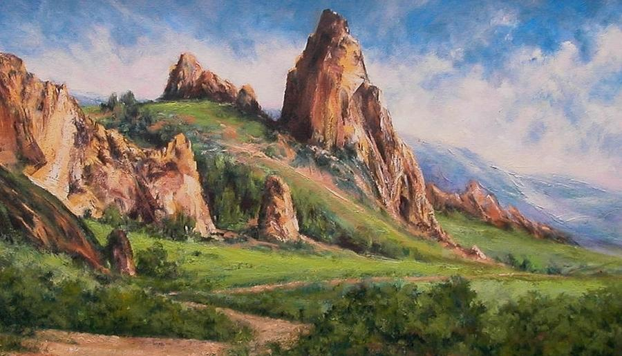 Painting Painting - Central Oregon by Jim Gola