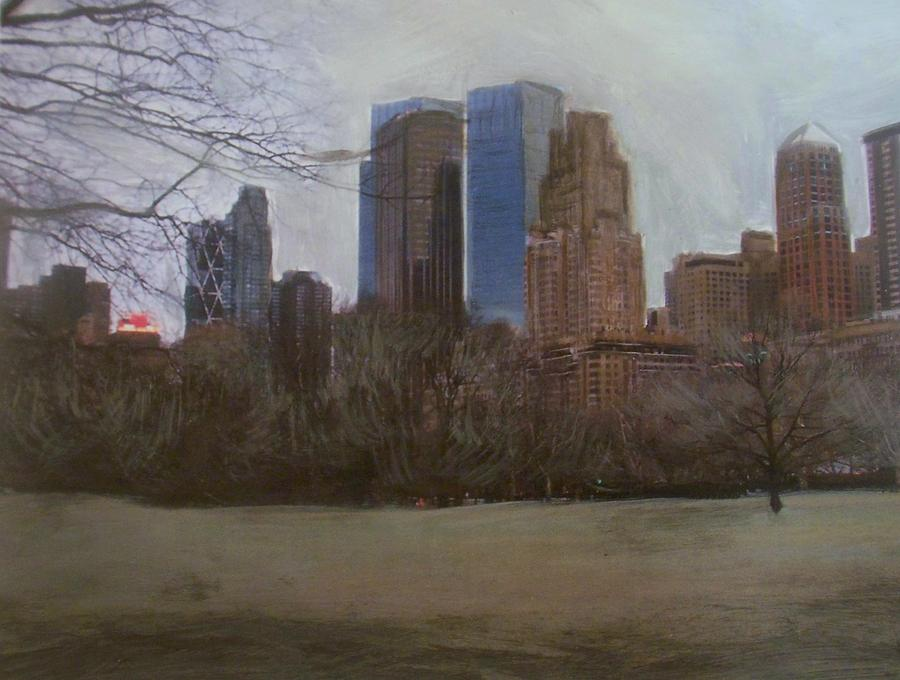 Central Park Painting - Central Park  by Anita Burgermeister