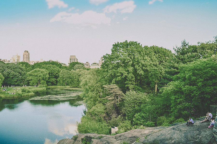 New York City Photograph - Central Park In Summer by Lena del Sol Langaigne