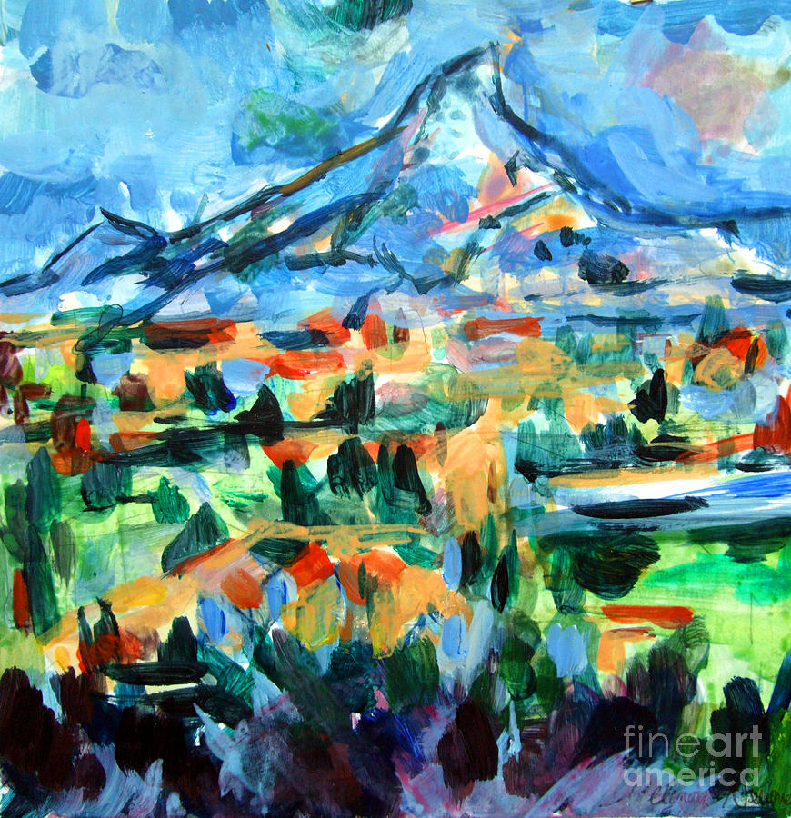 Cezanne Painting - Cezanne Mountain by Mindy Newman