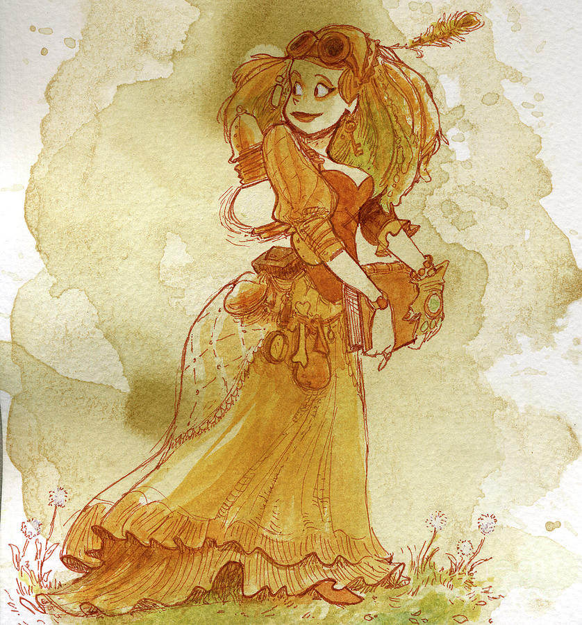 Chamomile Painting by Brian Kesinger