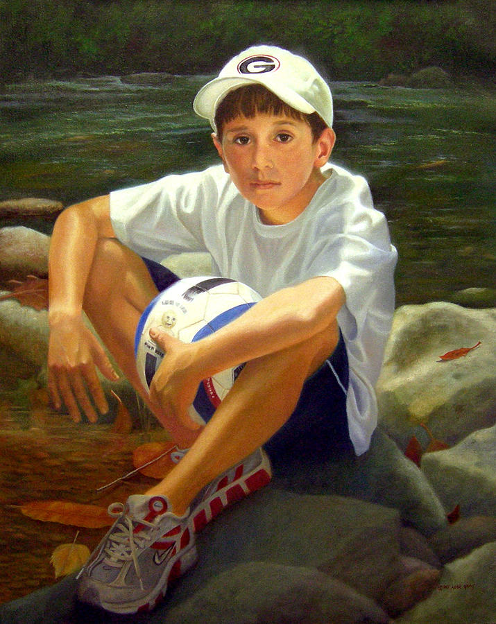 Portrait Painting - Chance by Pat Aube Gray