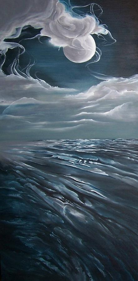 Ocean Painting - Changing Tide by Kathleen Romana