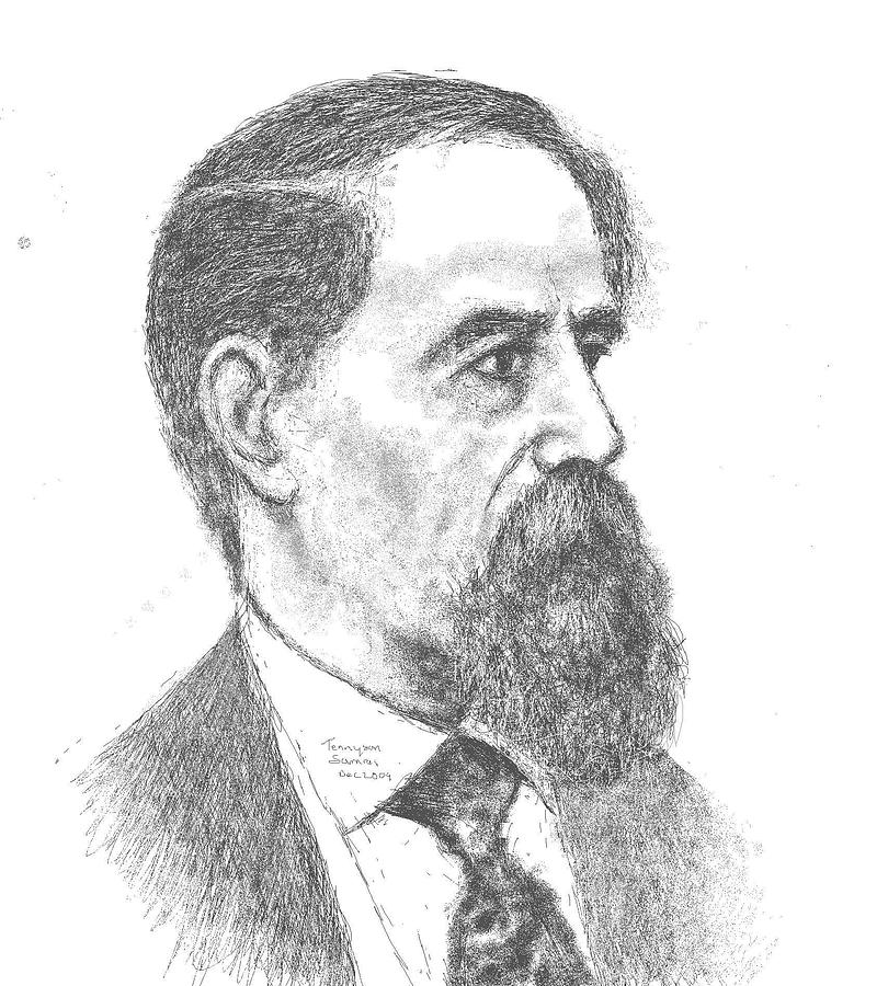 Portrait Painting - Charles Dickens by Tennyson Samraj