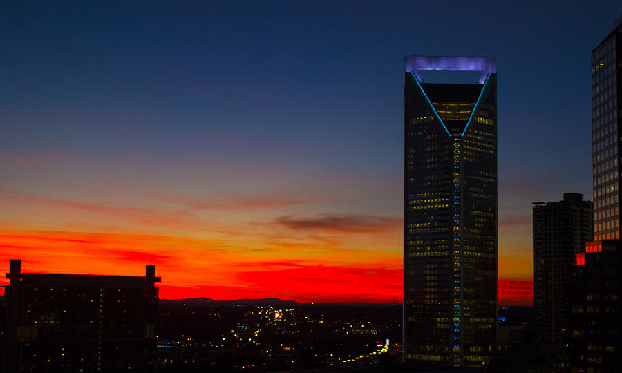 Charlotte Red Skies Photograph