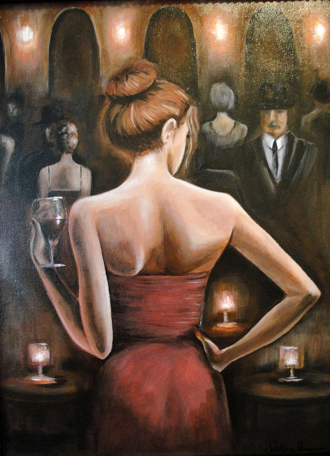 Figures Painting - Charm by Svetlana Semenova