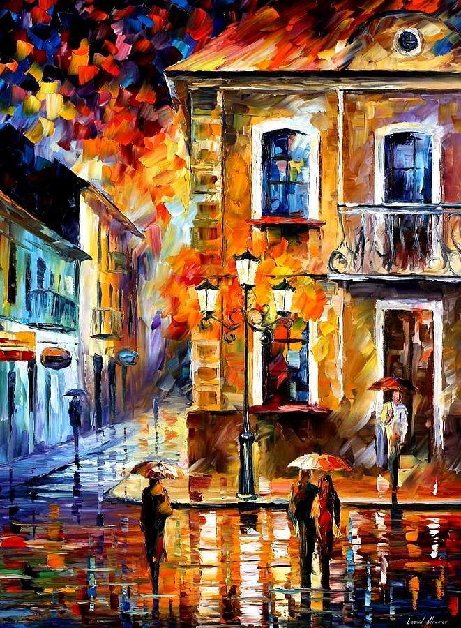 Afremov Painting - Charming Night by Leonid Afremov