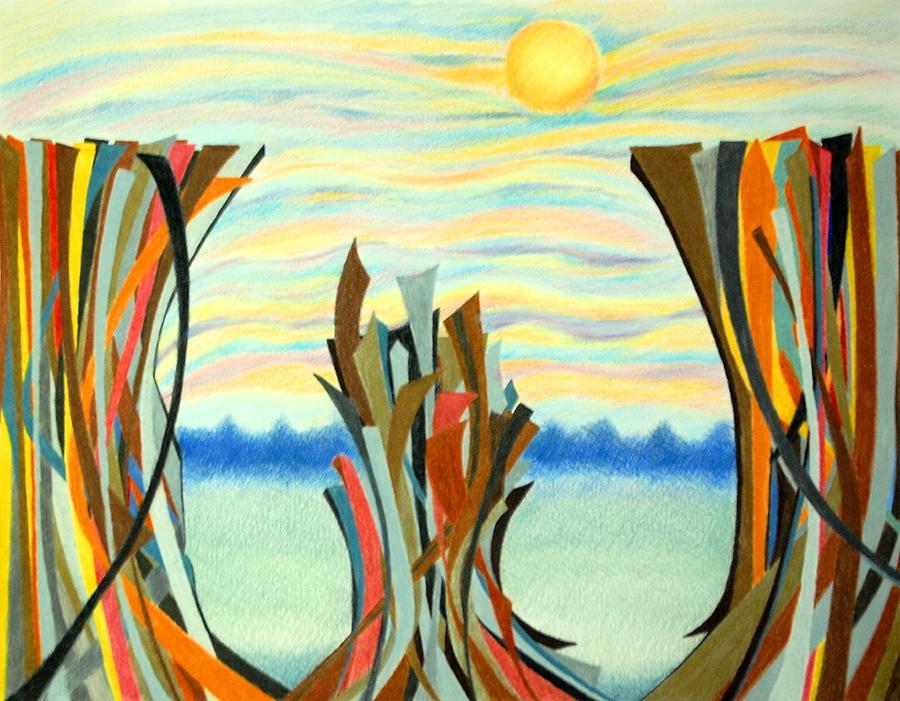 Chasm Drawing - Chasm by Sharon Blanchard