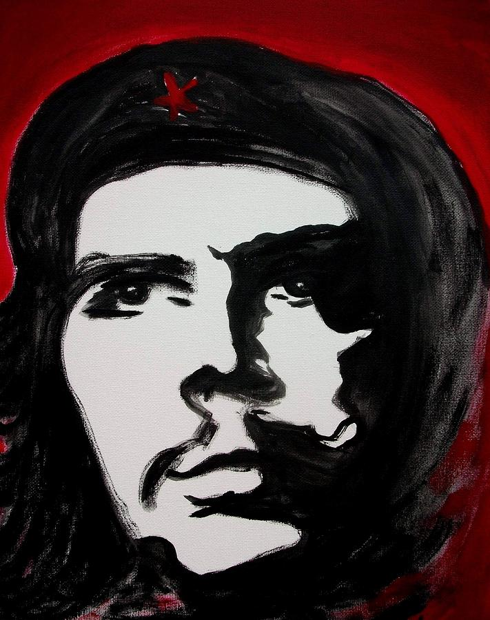 Political Painting - Che by Jean Billsdon